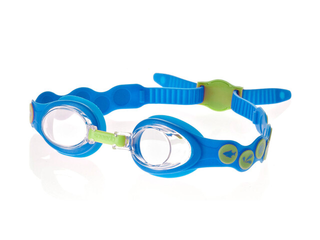 speedo Sea Squad Goggle Juniors Neon Blue/Hydro Green